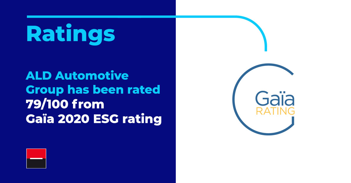 ALD Automotive Group rated with 79/100 from Gaïa
